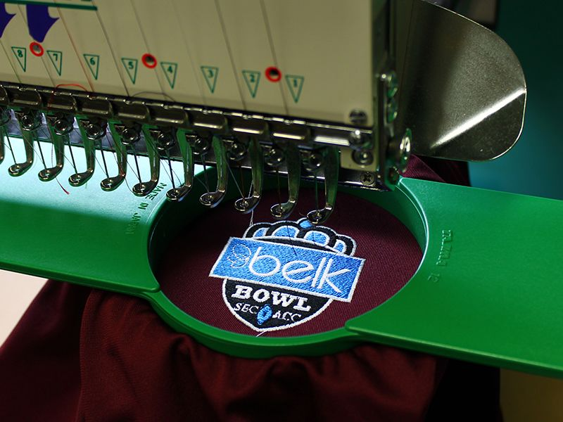 embroidery machines, embroidered